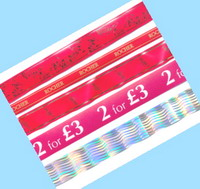 Упаковочная лента с печатью логотипа и этикетки - бандерольная лента ATS Tanner для подарочной упаковки (www.tetra-pro.ru)