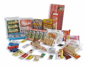 Упаковка флоупак (flow-pack, флоу-пак) на упаковочных машинах TLM - различные продукты